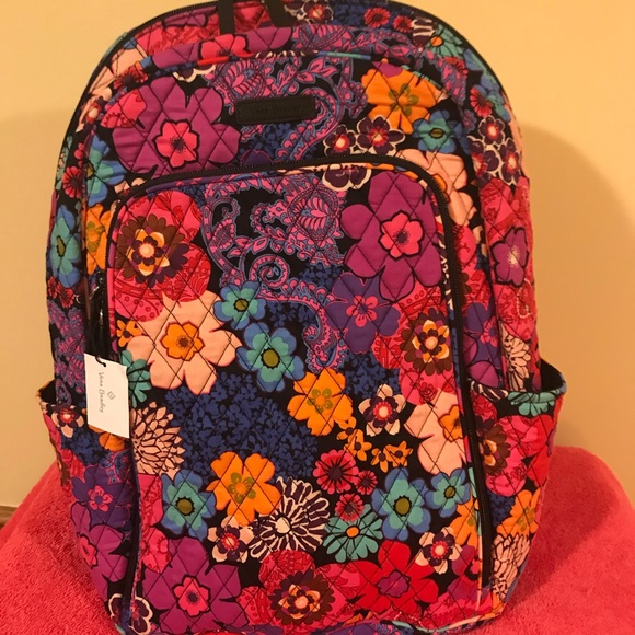 71f8a00ab2 Vera Bradley Floral Fiesta Laptop Backpack NWT